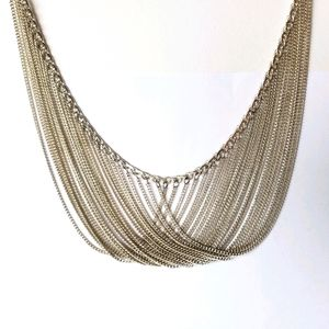 925 silver multistrand necklace